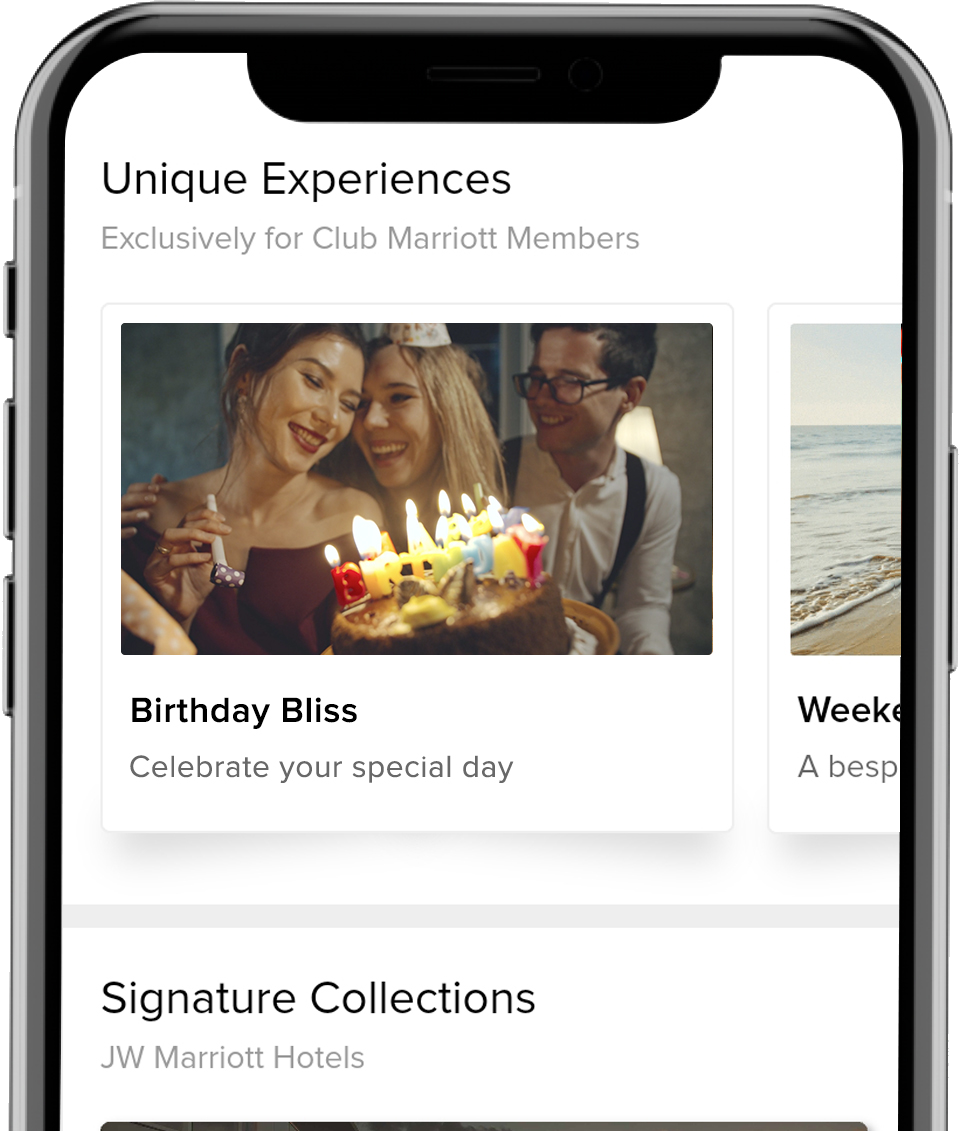 Explore and Book our Curated Experiences with Club Marriott Mobile App