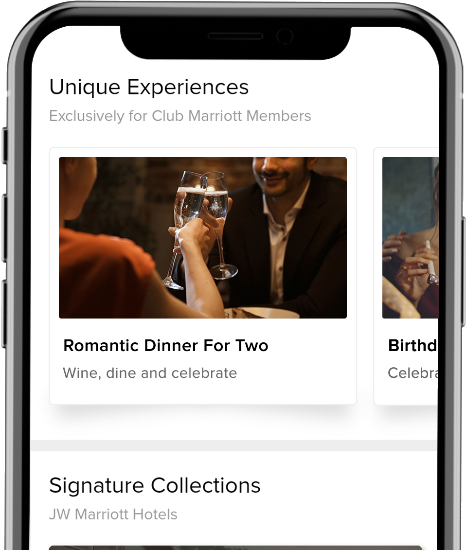 Instant Bookings of Dinner and Celebrations with Club Marriott Mobile App