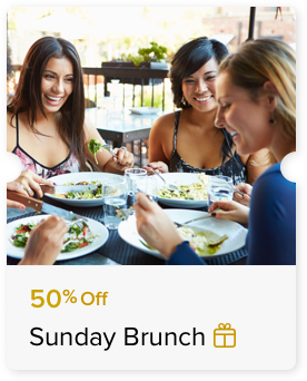 50% Off Sunday Brunch