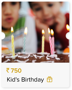 Special Price for a Kid's Birthday Celebration
