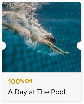 100% Off Access to the Swimming Pool