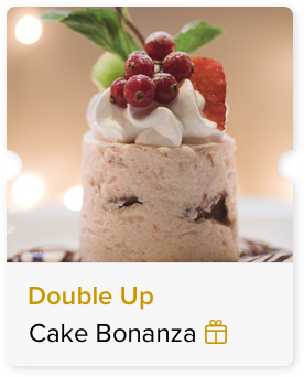 100% Off double the size of the Cake paid for