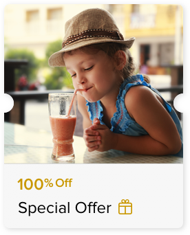 100% Off Unlimited Refill of Soft Beverages or Kid's Buffet Meal