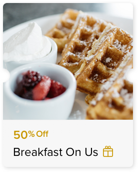 50% Off Buffet Breakfast