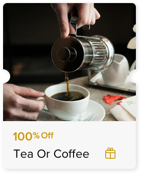 100% Off Tea or Coffee Service