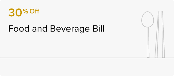 30% Food and Beverage Bill