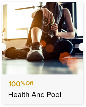 100% Off Access to the Gymnasium or Swimming Pool