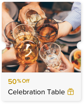 50% Off Food Bill